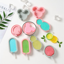 DIY Silicone Popsicle Molds Ice Cream Mold Popsicle Maker Holder Frozen Ice Mould with Popsicle Sticks Lid Kitchen Tool Summer 2500 per day frozen ice cream pop mold popsicle maker with 1 mould