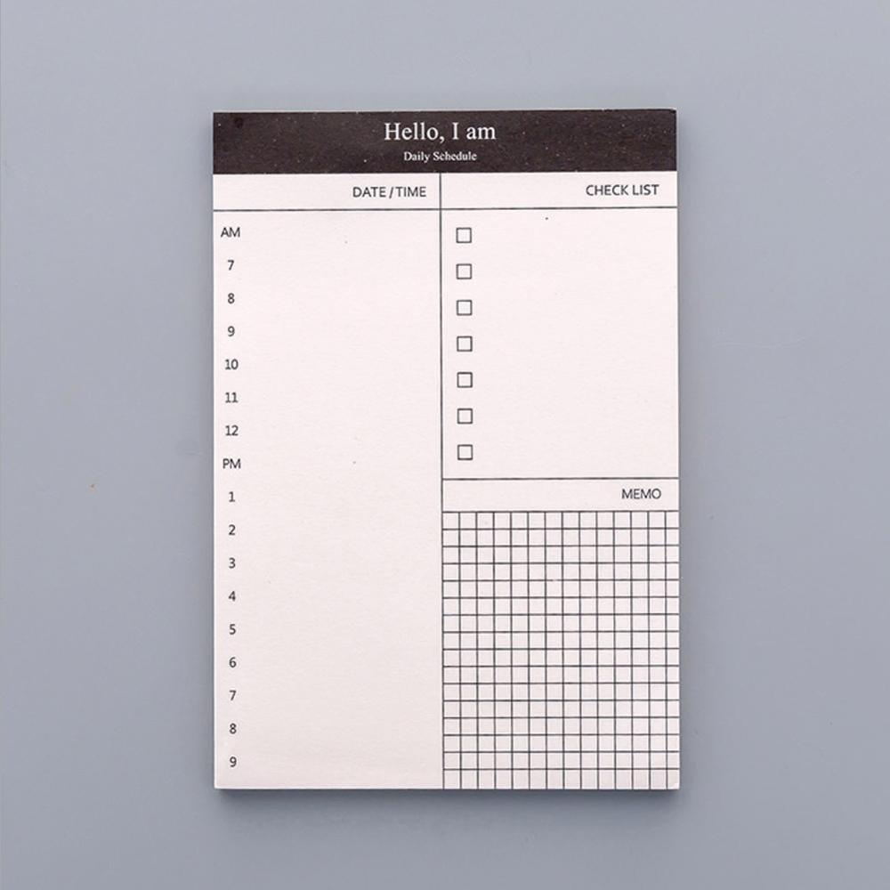 Небольшой бумажный блокнот для записей, ежедневник, планер, офисный стол, контрольный лист, блокнот для списка школьных канцелярских товаро...