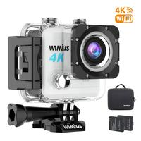Wimius L1 Sports Action Video Cameras 30M Waterproof 4K 20MP Ultra HD DV 170D Sport Action Camera WIFI Video Helmet Camera Cam