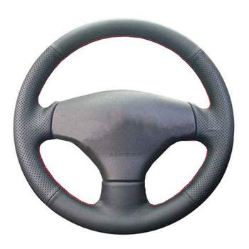 Osłona na kierownicę do samochodu dla Peugeot 206 1998-2005 206 SW 2003-2005 206 dostosuj DIY kierownicy Wrap skóra z mikrofibry tanie i dobre opinie CN (pochodzenie) Skóra z mikrowłókien Kierownice i piasty kierownicy 0 25kg Protect the steering wheel 10 38cm Iso9001
