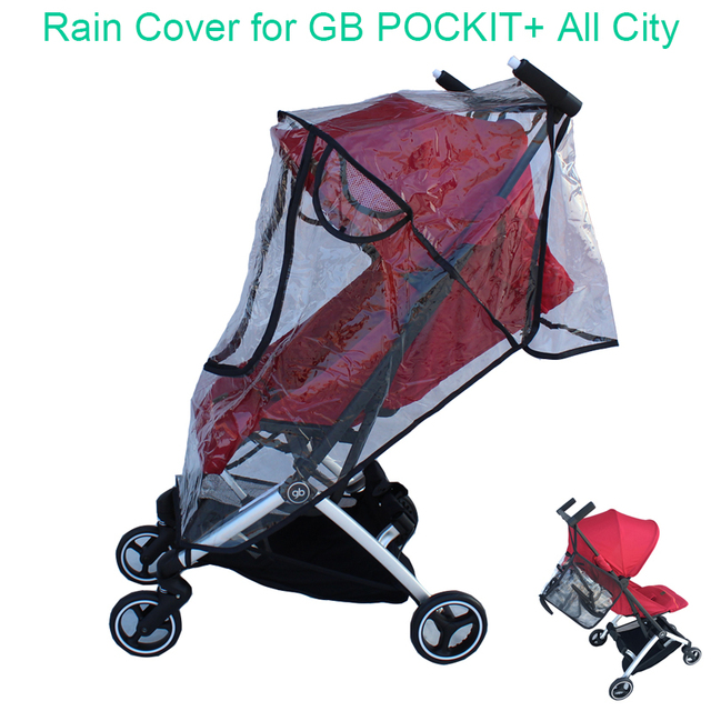 1:1 Tailor Made Baby Stroller Accessories Goodbaby Raincoat Rain Cover Dust proof Cover Windproof Cover for GB POCKIT+ All City