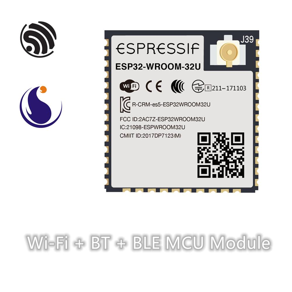 ESP32-WROOM-32U Espressif Systems SoC Dual-core Wi-Fi & BT/ Bluetooth LE Module Serial Port Transparent Transmission Wireless