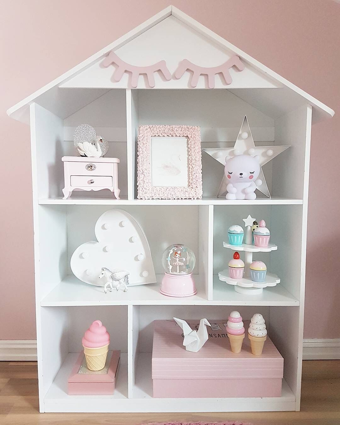 Boleyn Customizable Northern European-Style INS-Style Floor House Bookshelf CHILDREN'S Room Baby Room Storage Decoration Solid W
