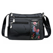 Women Genuine Leather Bags Fashion flower Shoulder Bags For