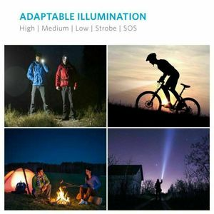 Image 5 - LED Rechargeable Flashlight Abay XML T6 linterna torch 18650 Battery 5 Modes Waterproof Outdoor Camping Powerful Led Flashlight