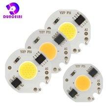 10 шт/лот миниатюрный светодиодный чип cob 220 В 3 Вт 5 7 9