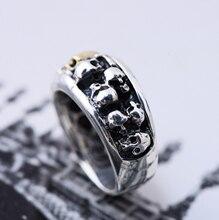 S925 серебро 2020 властная Мужская черепа панк стильное серебряное