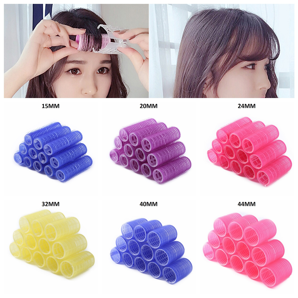 2/12pcs Big Self Grip Hair Rollers Self Grip Curler Hair Rollers For DIY Curl Hair Styling Curling Tool Home Use Hair Rollers