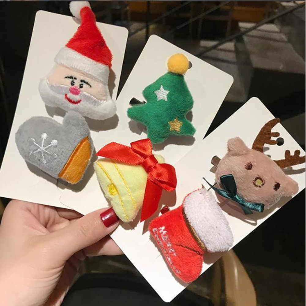 女の子漫画クリスマスギフト子供ブローチかわいいヘアピン豪華なヘアアクセサリーの誕生日ホリデーギフト