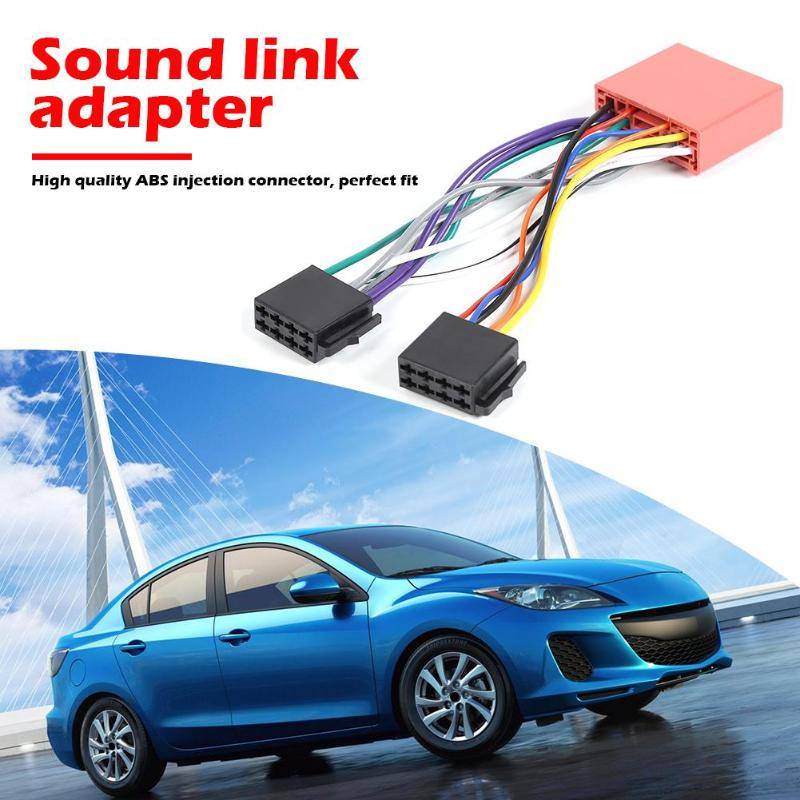 Car Stereo Radio 13 Pin ISO Standard Wiring Harness Connector Plug For Mazda High Temperature Resistance And Durability