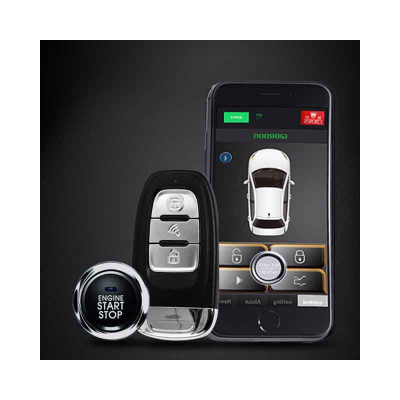 Quad Lock Antitheft Car Car Alarm System With Keyless Entry Central Locking Remote Start And Alarm Car Parts Start Stop Button