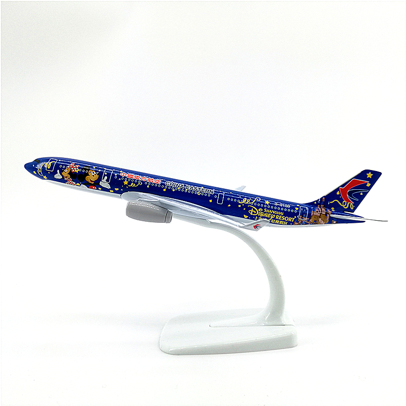 20cm Airbus A330 China Eastern Airlines theme aircraft airplanes model A330 alloy Diecast Aircraft model Collectible Decoration image