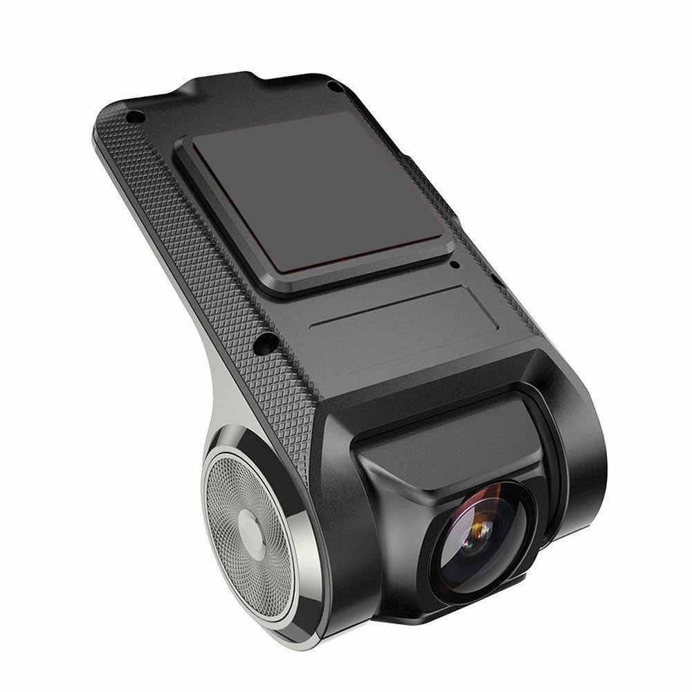 Jerry U2 300W Ultra HD GPS Ô Tô Dash Cam DVR 1280P AVI MP4 ADAS Phía Sau Đêm tầm Nhìn Ống Kính Kép Dashcam