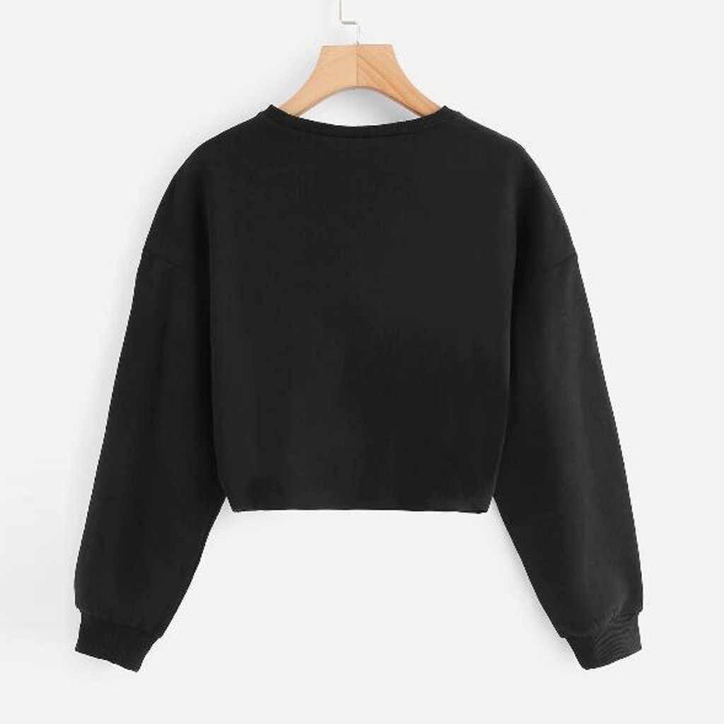 Женские толстовки, верхняя одежда для худи, осенне-зимний пуловер с круглым вырезом, винтажная черная однотонная женская одежда с длинным рукавом, украшенная бусинами