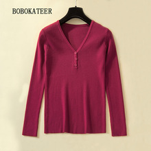 BOBOKATEER pull femme sweater women turtleneck knitted pullover sueter mujer invierno 2019