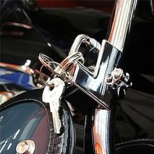 Universal Motorcycle Helmet Lock Handlebars Cafe Racer Motocross Helmet Security Lock Padlock