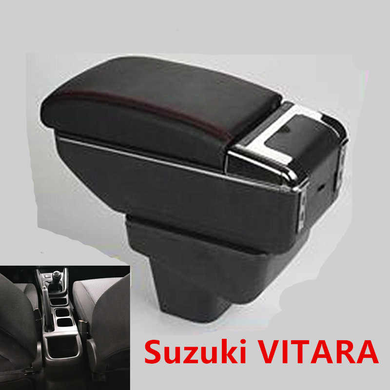 For SUZUKI Vitara armrest box universal car center console modification accessories double raised with usb