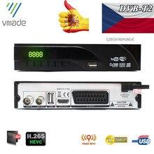 DVB T2 Terrestrial digital receiver supports H.265/HEVC DVB T h265 hevc dvb t2 hot sale Europe Czech Republic DVB T2 set top BOX