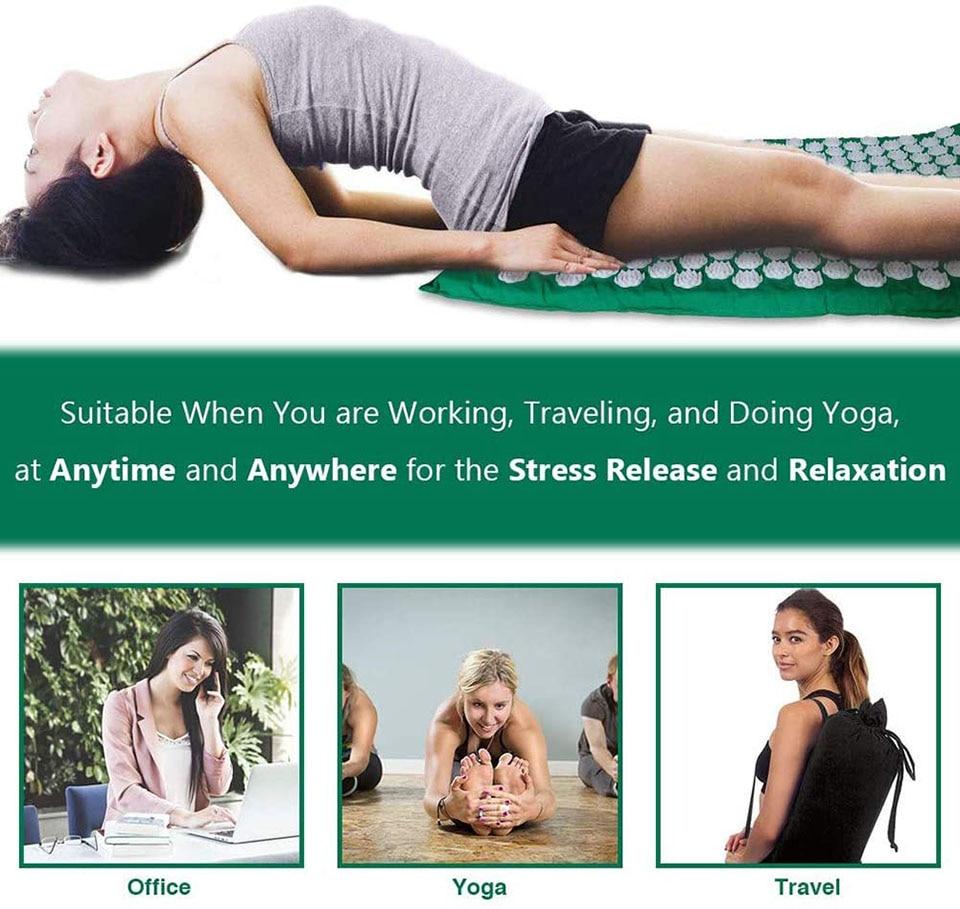 Acupressure Pranamat Yoga Mat and Pillow