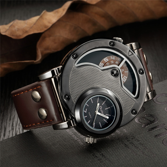 Steampunk Unique Looking Watch w/ Leather Strap