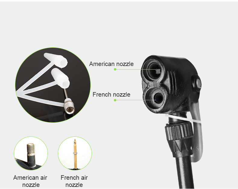 estore kart bike accessories new arrival Portable Bicycle Air Pump american nozzle