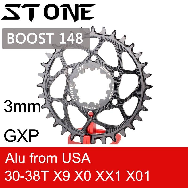 Plateau rond en pierre pour Boost 148 GXP 3mm Offset X9 X0 XX1 X01 30t 32 34t 36 38T vélo vélo à montage Direct pour sram gxp 3mm