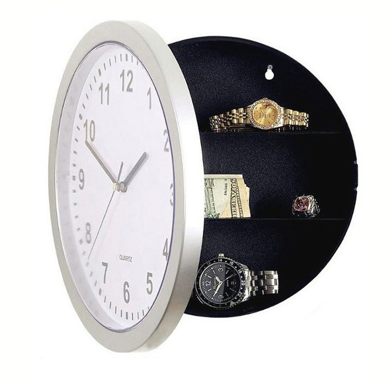 Wall Clock Safe Box Creative Hidden Secret Storage Security Store Cash Jewelry Home Office Safety Deposit Box Protection 25*25Cm