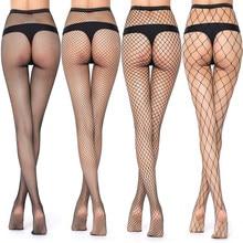 Venda quente das mulheres longas sexy meias de rede de peixe meias de malha meias de malha lingerie pele coxa alta meia