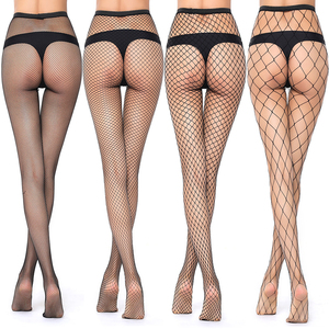 Hot Selling Women's Long Sexy Fishnet Stockings Fish Net Pantyhose Mesh Stockings Lingerie Skin Thigh High Stocking