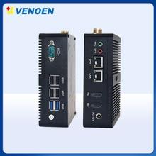 Dört çekirdekli Mini masaüstü bilgisayar Windows Celeron N3160 J3160 J1900 çift LAN mini bilgisayar intel HD grafik HTPC Nettop Barebone TV kutusu