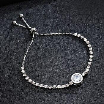 Heart Round Bracelet Simple Cute Crystal Chain Bracelet Women Charm Sweet Jewelry 1
