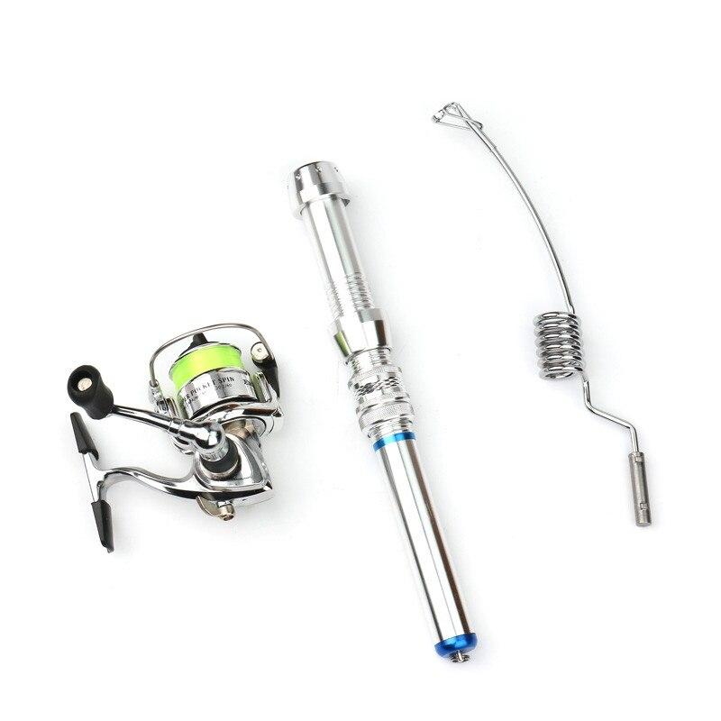 Ice fishing rod boat/raft 38cm very short winter fishing rod mini portable lightweight aluminum alloy fishing rod casting reel