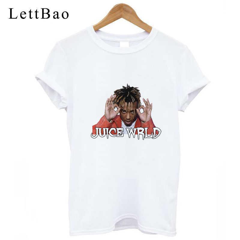 999 Rip Juice Wrld blanco Harajuku camiseta mujer Casual gótico Camiseta estilo hip-hop impresión camiseta Lucid Dreams Ullzang camisetas de talla grande
