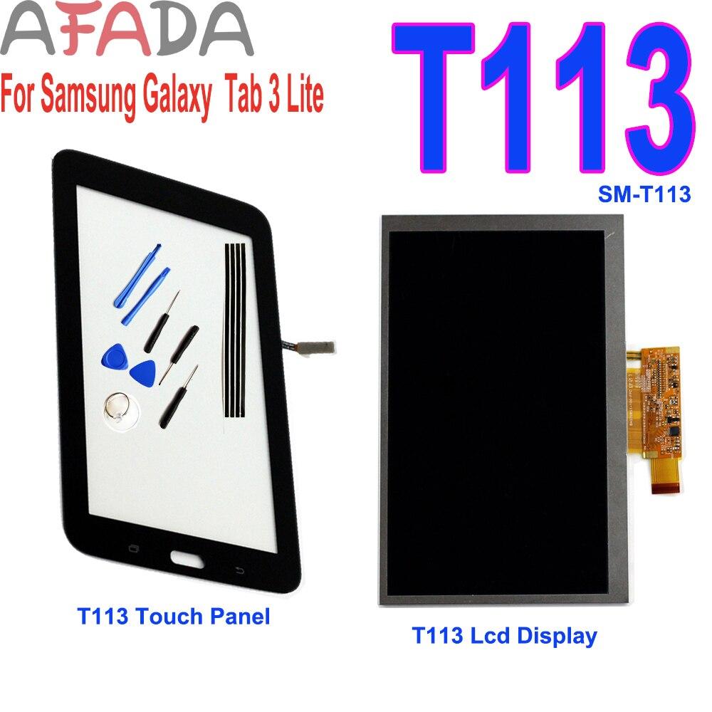 Pantalla LCD de 7 pulgadas para Samsung GALAXY Tab 3 Lite SM-T113 T113, repuesto de digitalizador con herramientas gratuitas y cinta