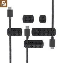 Bcase zarządzania kabel 5 sztuk/zestaw przenośny drutu urządzenie pamięci masowej przewodnik kabel silikonowy Winder Organizer do kabli