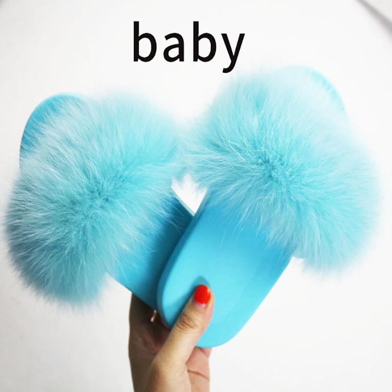 Kids Fur Slides Fur Slides Kid's Fluffy Furry Sandals Girl's Fur Flip Flops