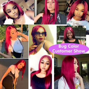 Image 3 - Brazilian Straight Lace Closure Human Hair Wigs 8 24 Inches Pre Plucked with Baby Hair 4x4 Closure Wig 150% Remy Human Hair Wigs