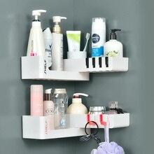 Rotatable Corner Shower Shelf Bathroom Storage Holder Organizer Shampoo Holder Wall Mounted Corner Shelf Kitchen Storage Rack