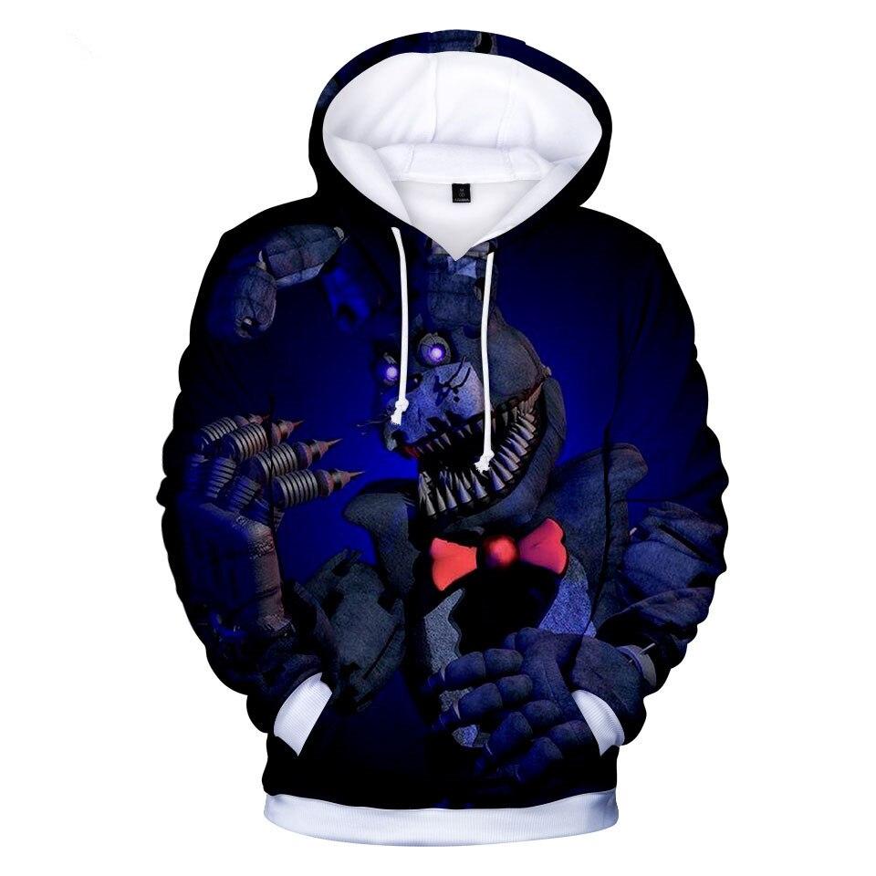 Kid/'s Five Nights at Freddy's FNAF 3D printed hoodie autumn pullover hiphop coat