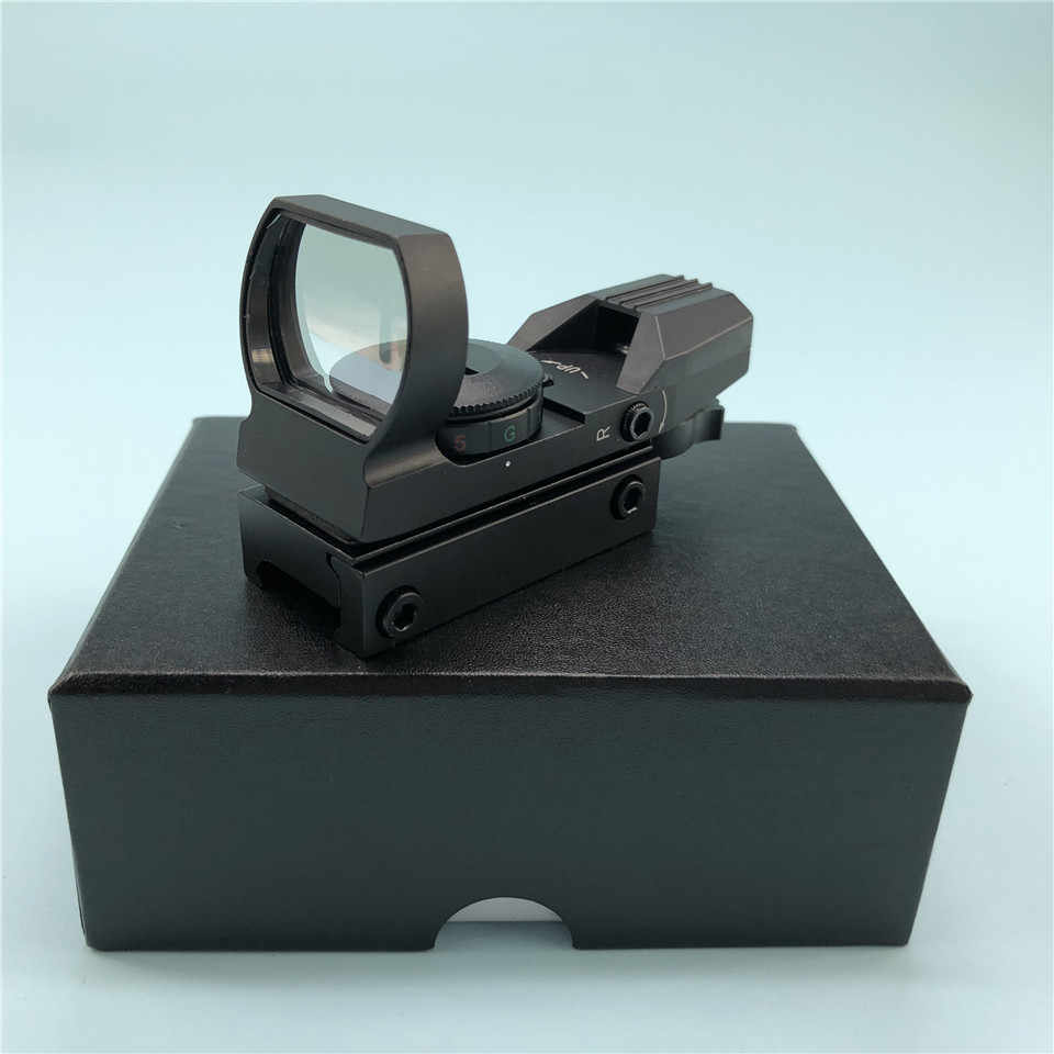 Ringan 20 Mm Rail Riflescope Berburu Optik Hologram Red Dot Sight Refleks 4 Reticle Taktis Lingkup Collimator Pandangan