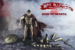 Image 2 - BY ART BY G01 300 Warriors King of SPARTA with 2 Heads 1/12 Action FIGURE