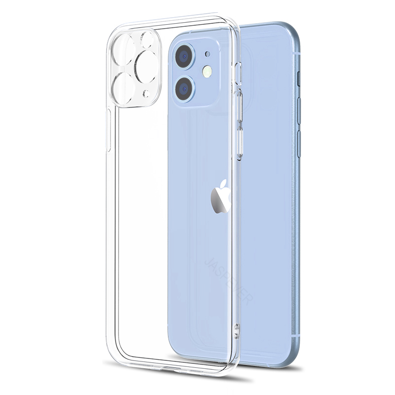 Luxury Clear Soft Case For Iphone 11 Pro XS Max X XR Transparent Silicone Case For Iphone SE 2020 7 8 6S 6 Plus 5 5S Full Cover