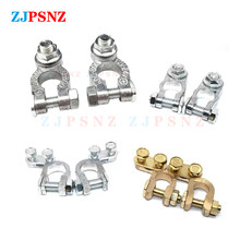 1Pair 12V 24V Automotive Car Top Post Battery Terminals Wire Cable Clamp Terminal Electric Connectors Clamps Car accessories