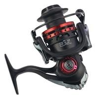 Yumoshi Fishing Reel Carbon Drag 19Kg Metal Spinning Reel 13+1Bb Carp Fishing Reels Baitcasting Spinning Wheel
