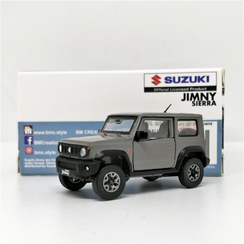 1:64 BM Creations Suzuki Jimny (JB74) Medium Gray LHD White RHD Diecast Model Car