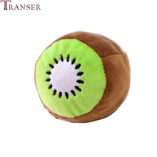 Transer Funny Kiwifruit Shape Soft Plush Dog Toy Pet Chew Bite Teeth Clean Outdoor Entertainment Train Pet Toys Products 912(China)
