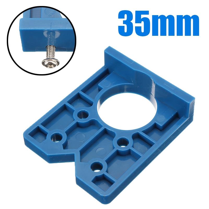 35mm Cabinet Hinge Jig Locator Plastic Hinge Instal Drill Guide Hinge Wood Hole Drilling Boring Furniture Door Cabinet Tool Set