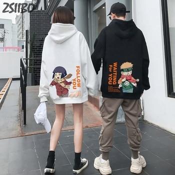 Fashion Harajuku Style Sweater Naruto Couple Wearing Hoodie Unisex Japanese Anime Printed Mens Street Wear One Piece