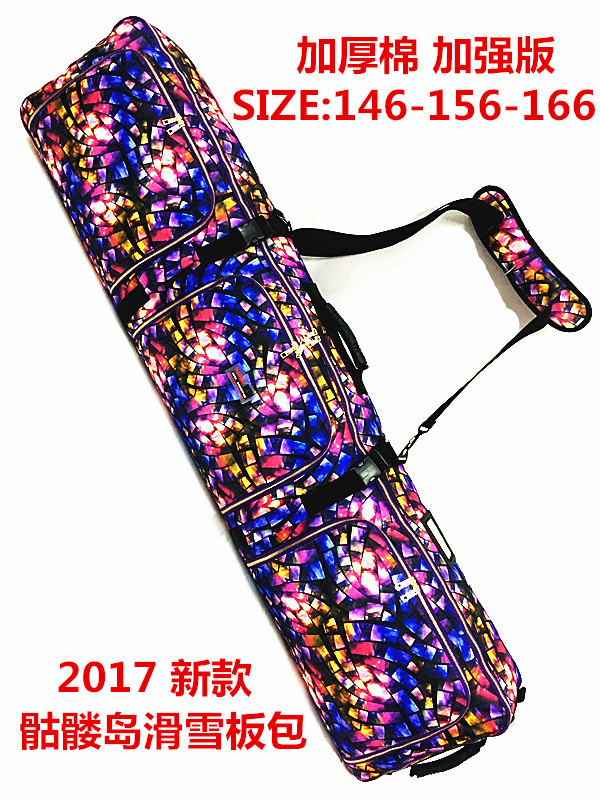 Snowboard Hua Xue Ban Bao With Wheels Grunt Skiing Boots Fixed Device Bag Shoulder Hand Consign Shuang Ban Bao