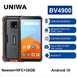 Blackview BV4900 NFC Android 10 смартфон 3 ГБ + 32 ГБ 5,7-дюймовый телефон прочный водонепроницаемый IP68 мобильный телефон 5580 мАч